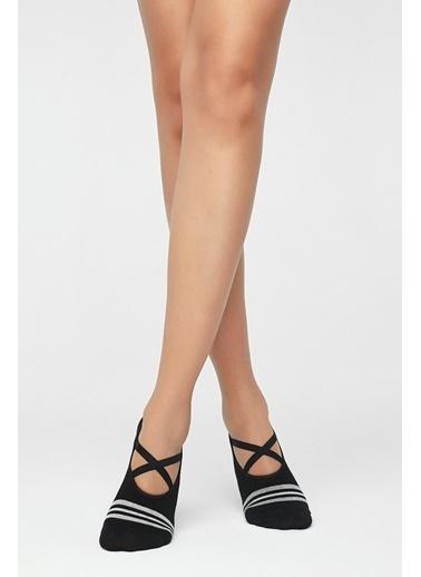 Penti Active Crossbant Babet Çorabı Siyah